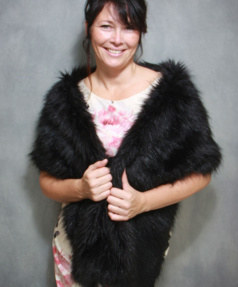 Long Faux Fur Wraps