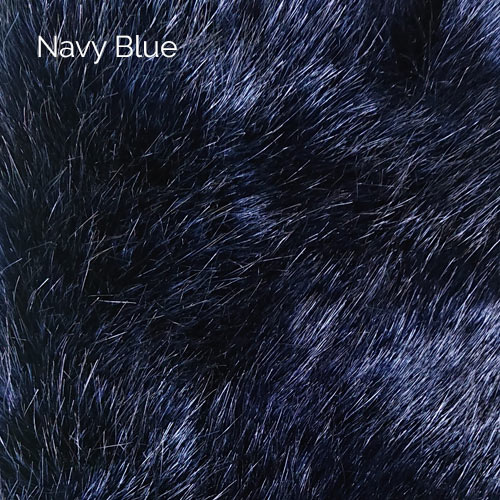 Navy Blue Faux fur
