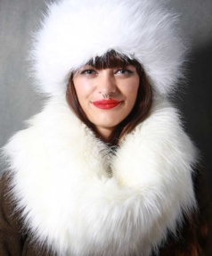 White Faux Fur Snood